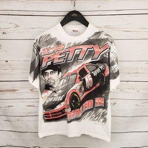 Vintage Nascar Kyle Petty all over print tshirt